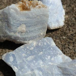 blue lace agate rough stone