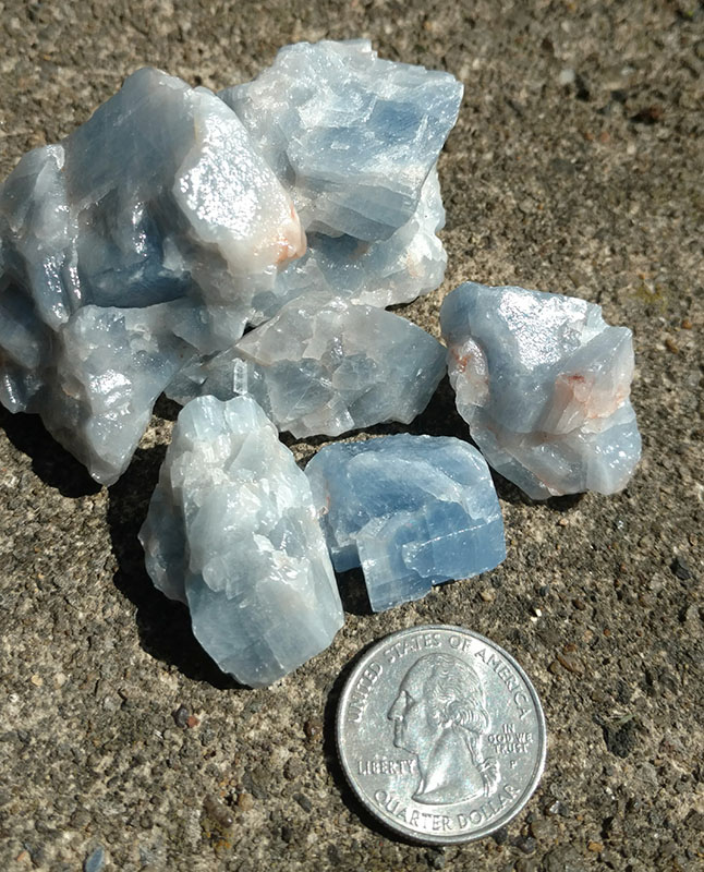Blue Calcite for scale